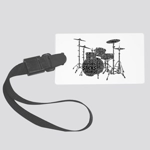Drum Set Shaped Word Cloud Luggage Tag