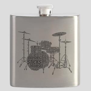 Drum Set Shaped Word Cloud Flask