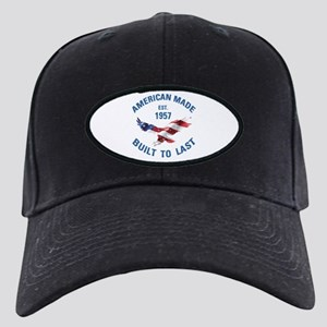 1957 American Made Black Cap with Patch