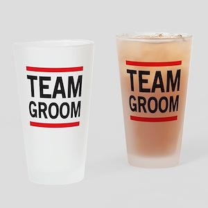Team Groom Drinking Glass