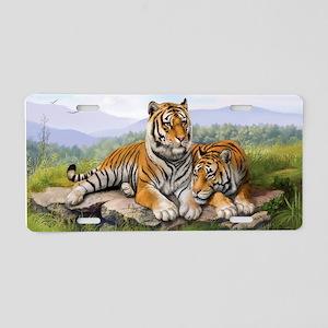 Tigers Aluminum License Plate