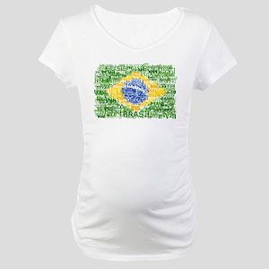 Textual Brasil Maternity T-Shirt