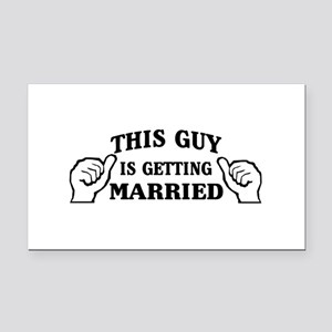 This Guy Is Getting Married Rectangle Car Magnet