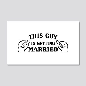 This Guy Is Getting Married Wall Decal