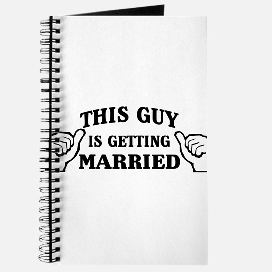 This Guy Is Getting Married Journal