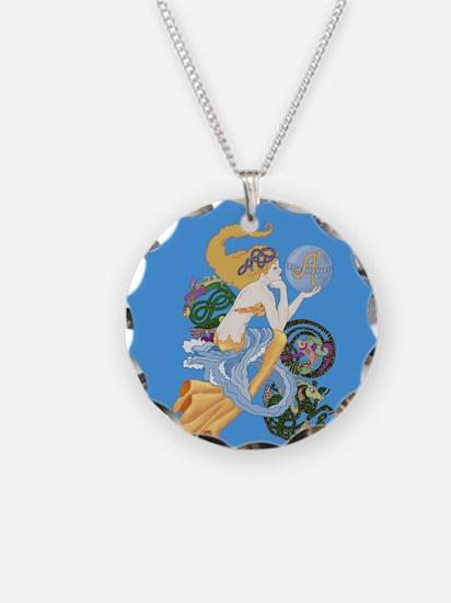 celtic a for aquarius mermaid Necklace