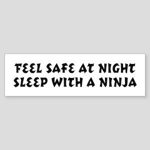 Feel Safe Ninja Bumper Sticker
