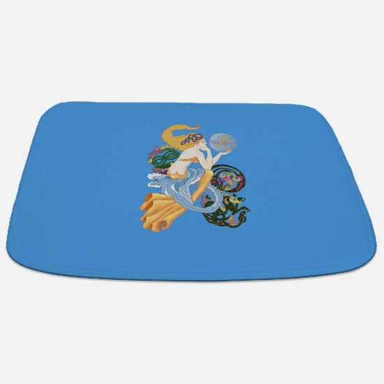 celtic a for aquarius mermaid Bathmat