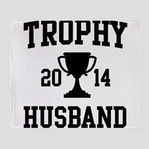 Trophy Husband Throw Blanket