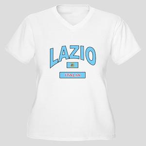 Lazio Italy Women's Plus Size V-Neck T-Shirt