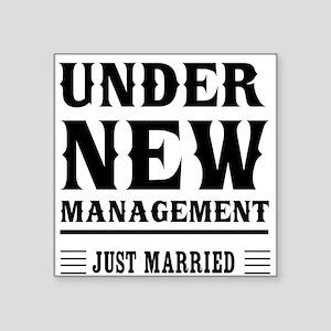Under New Management Just Married Sticker