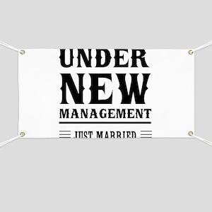 Under New Management Just Married Banner