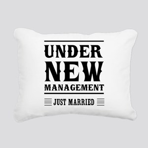 Under New Management Just Married Rectangular Canv
