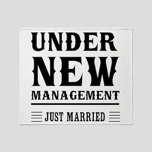 Under New Management Just Married Throw Blanket