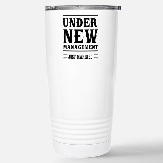 Under New Management Just Married Travel Mug