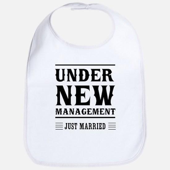 Under New Management Just Married Bib