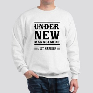 Under New Management Just Married Sweatshirt