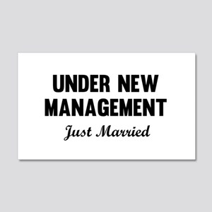 Under New Management Just Married Wall Decal