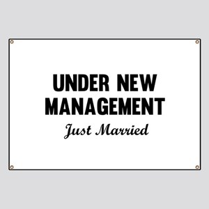 Under New Management Just Married Banner