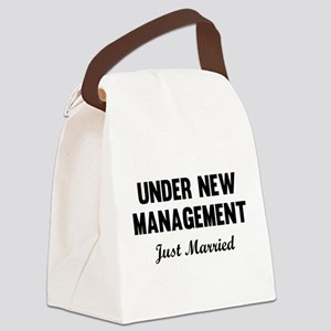 Under New Management Just Married Canvas Lunch Bag
