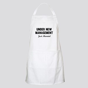 Under New Management Just Married Apron