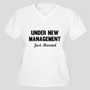 Under New Management Just Married Plus Size T-Shir