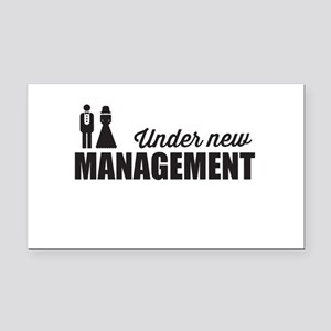 Under New Management Rectangle Car Magnet
