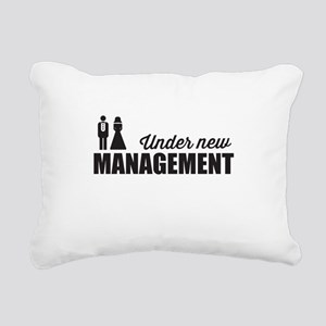 Under New Management Rectangular Canvas Pillow