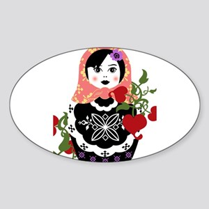 Nesting Doll In Flowers Sticker