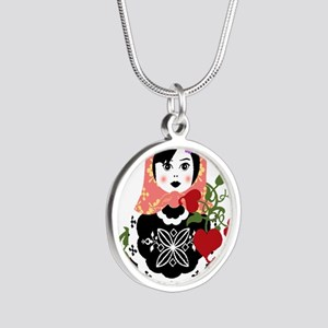 Nesting Doll In Flowers Necklaces