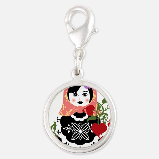 Nesting Doll In Flowers Charms