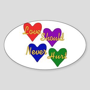End Domestic Violence Oval Sticker