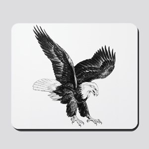 Sketch Of Eagle Landing Mousepad