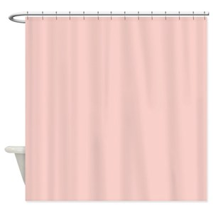 Solid Light Pink Shower Curtains