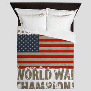 USA, Undisputed World War Champions Queen Duvet