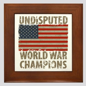 USA, Undisputed World War Champions Framed Tile