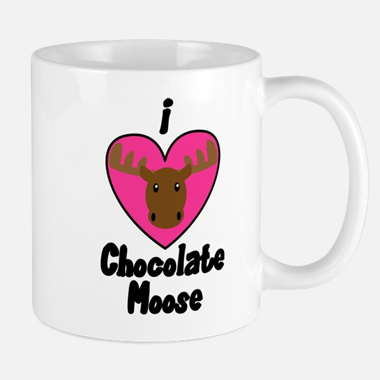 I Love Chocolate Moose Mug