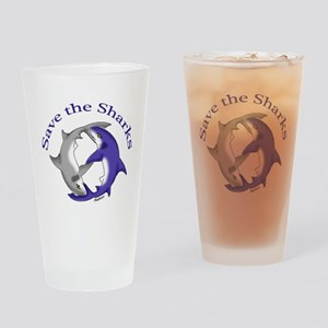 Save the Sharks Drinking Glass