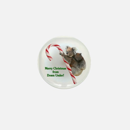 Cute Christmas snowglobe Mini Button