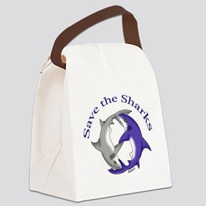 Save the Sharks Canvas Lunch Bag