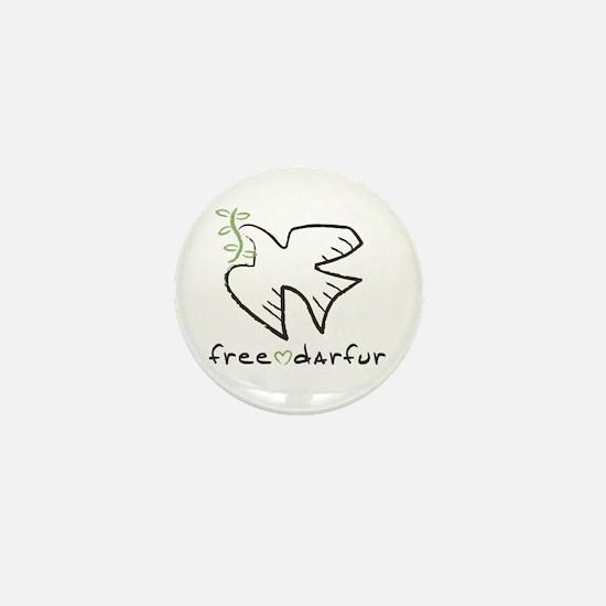 Free Darfur, Sudan Mini Button