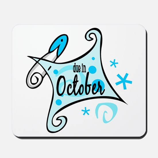 Due in October [Blue] Mousepad