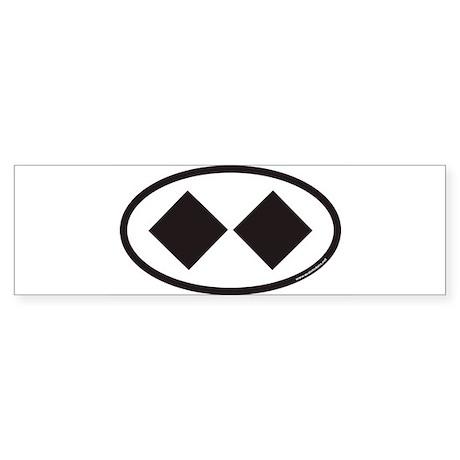 doubleblackdiamond Bumper Sticker