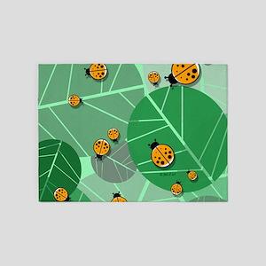 Lady Bugs 5'x7'area Rug