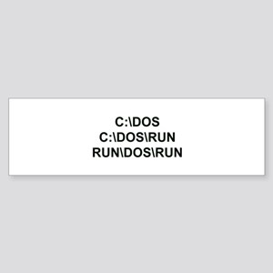 C:\DOS\RUN Sticker (Bumper)