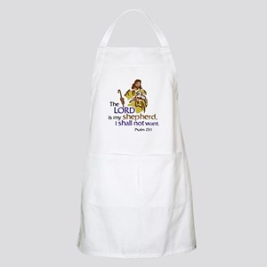 The Lord is my sheperd, Psalm 23:1, Psalm 23 Apron
