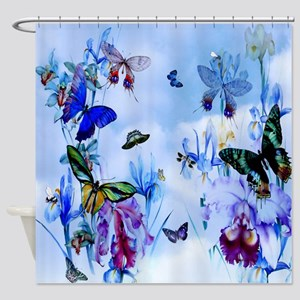 Take Flight Butterfly Orchid Kids Shower Curtain