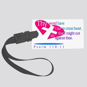 Thy Word have I hid in my heart, Large Luggage Tag