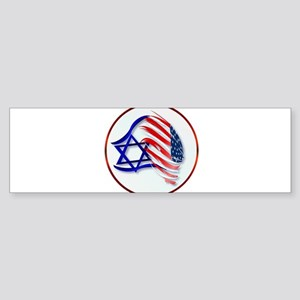 Stand With Isreal Circle Trans- Bumper Sticker