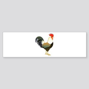 Rocking Rooster Bumper Sticker